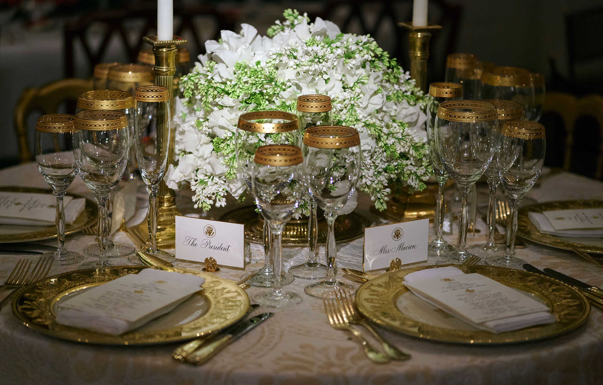 <div class='meta'><div class='origin-logo' data-origin='none'></div><span class='caption-text' data-credit='Carolyn Kaster/AP Photo'>A replica from a previous Donald J. Trump Administration state dinner is seen in the China Room during the 2018 Christmas Press Preview at the White House.</span></div>
