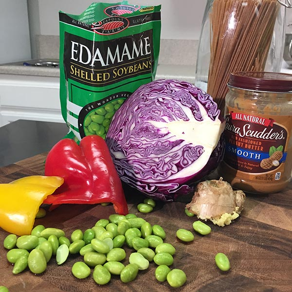Rainbow Peanut Noodle Recipe