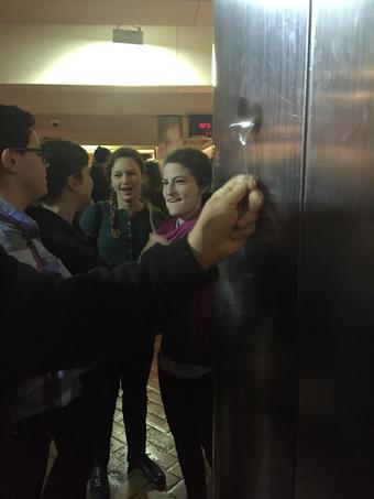 """<div class=""""meta image-caption""""><div class=""""origin-logo origin-image """"><span></span></div><span class=""""caption-text"""">Protesters banged metal spoons on the pillars at the Montgomery St. BART station on Friday, Jan. 16, 2015. (@amyhollyfield)</span></div>"""