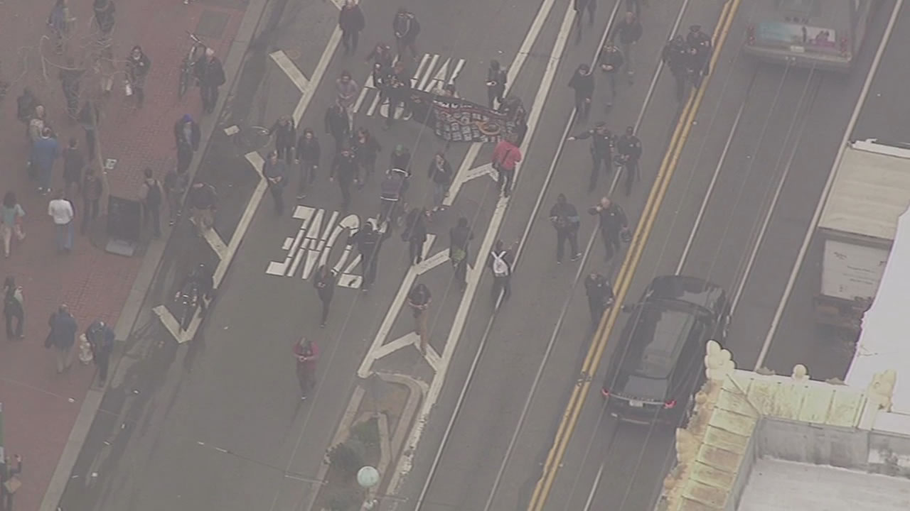 """<div class=""""meta image-caption""""><div class=""""origin-logo origin-image """"><span></span></div><span class=""""caption-text"""">Protesters march along Market street in San Francisco on Friday, Jan. 16, 2015. (KGO)</span></div>"""