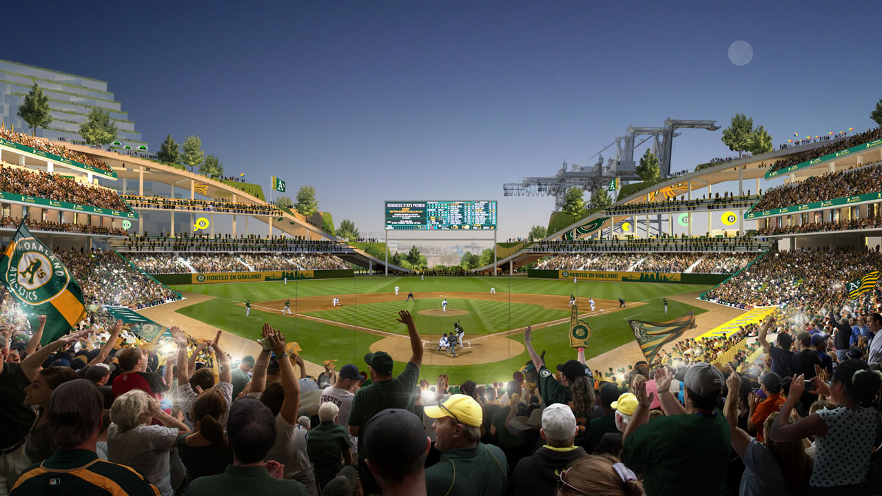 "<div class=""meta image-caption""><div class=""origin-logo origin-image none""><span>none</span></div><span class=""caption-text"">The Athletics released this rendering of their vision for a new stadium at Howard Terminal in Oakland, Calif. (Photo: Bjarke Ingels Group)</span></div>"
