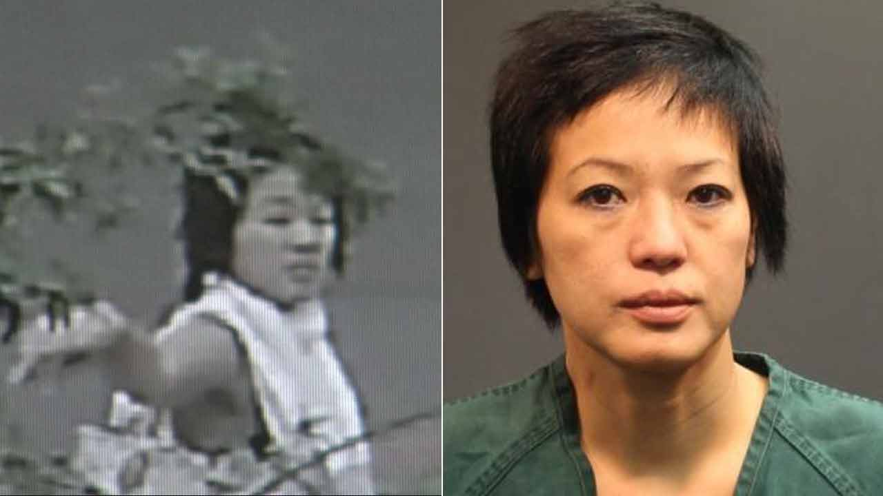 Trang Thu Pham, 45, was arrested for allegedly vandalizing a Buddhist temple in Santa Ana.
