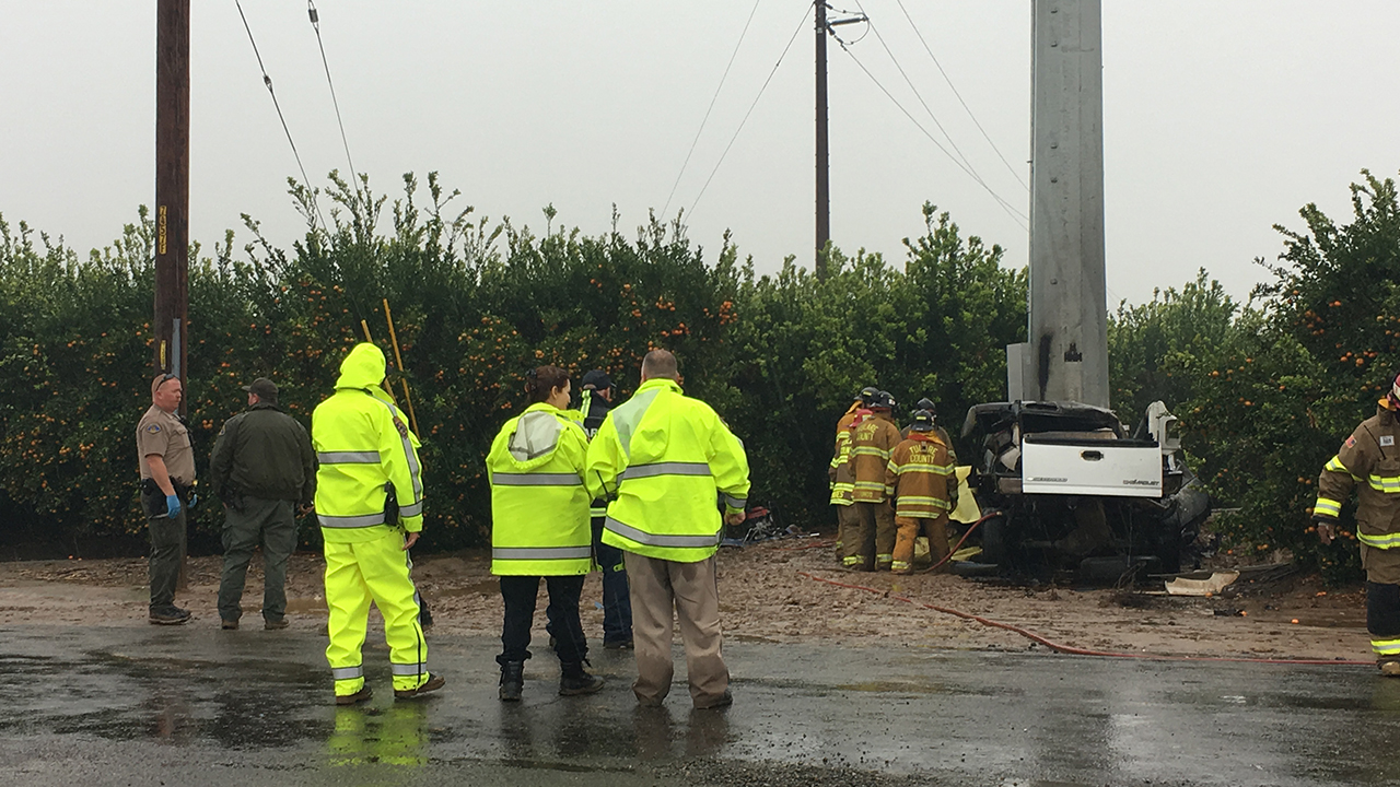 Person killed after car crashes into large power pole near