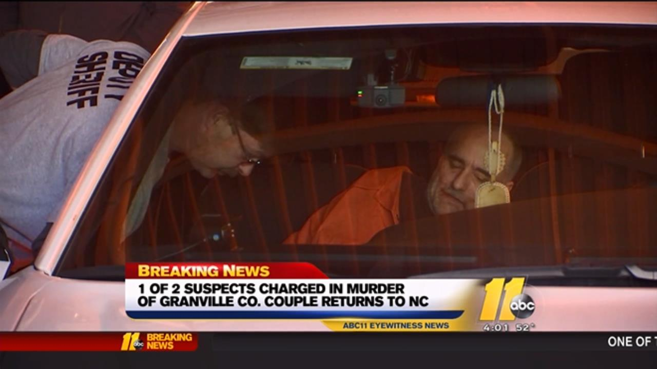 Edward Campbell was in shackles as he stepped out of a police cruiser.