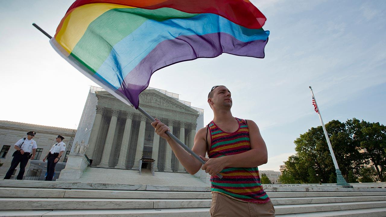 Supreme Court - rainbow flag