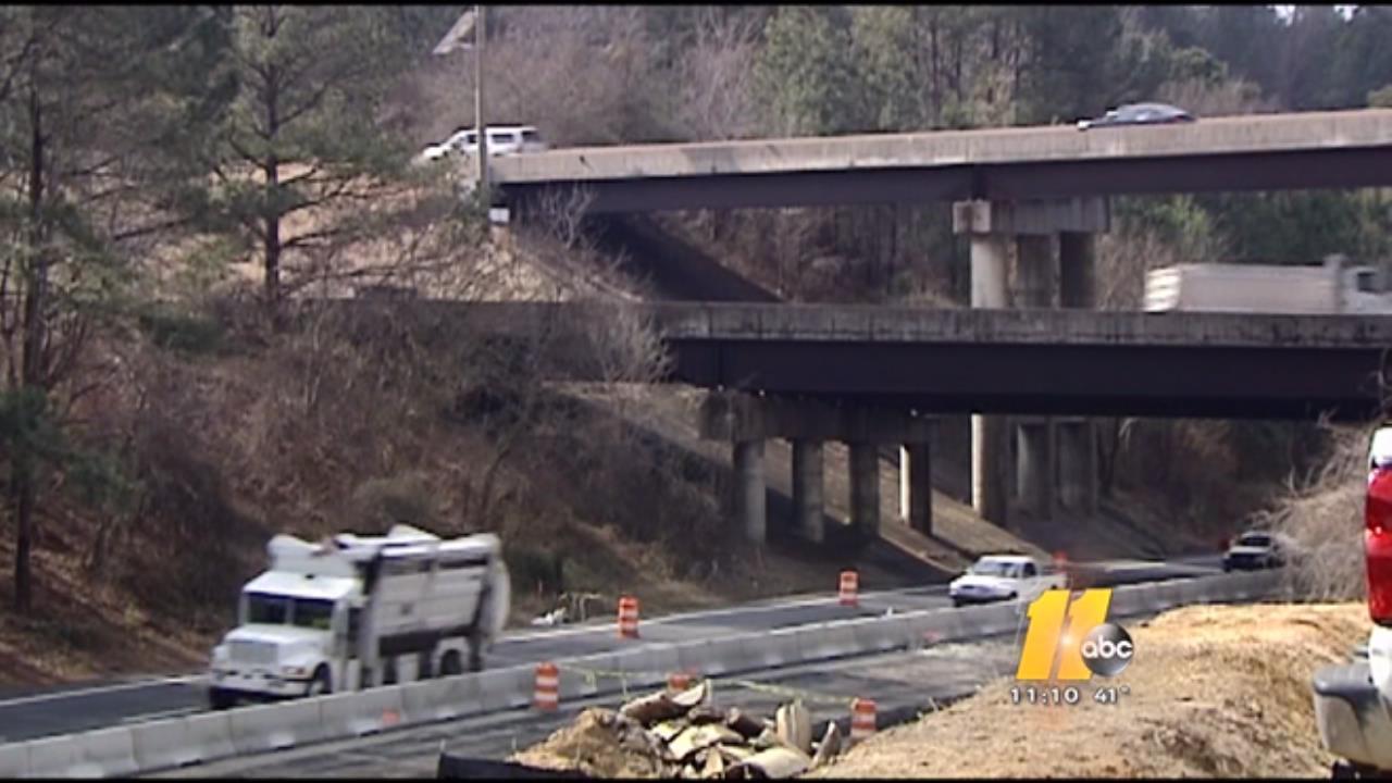 I-440 construction area