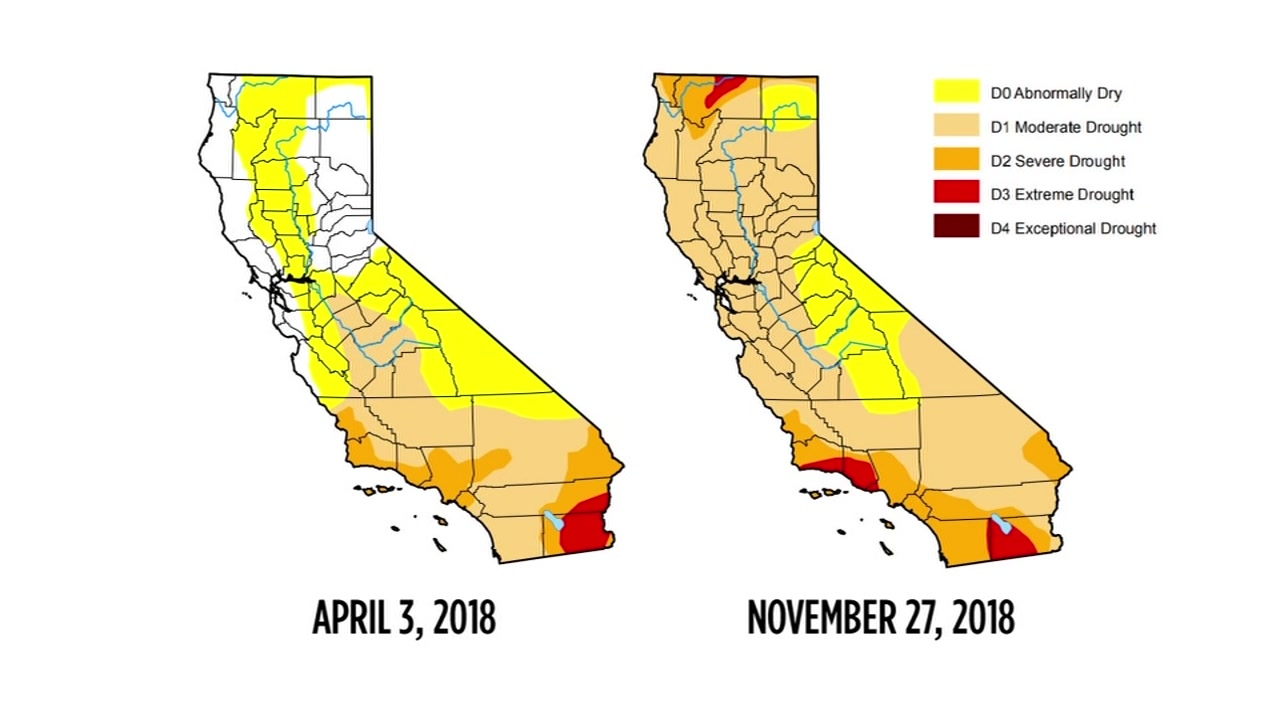 Show California Map.Drought Map Shows Recent Storm Has Not Helped Conditions In