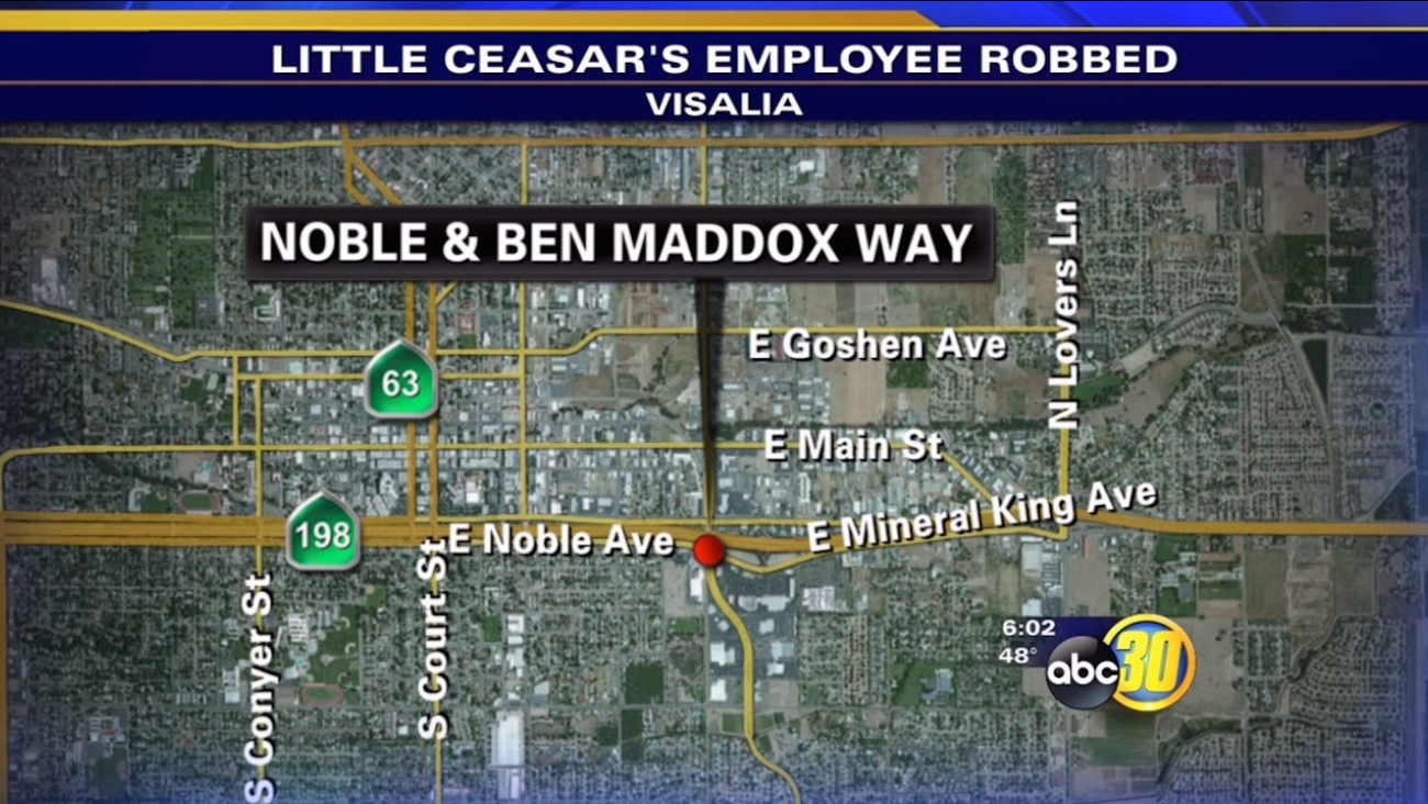 Visalia Little Caesar's Pizza employee robbed in parking lot
