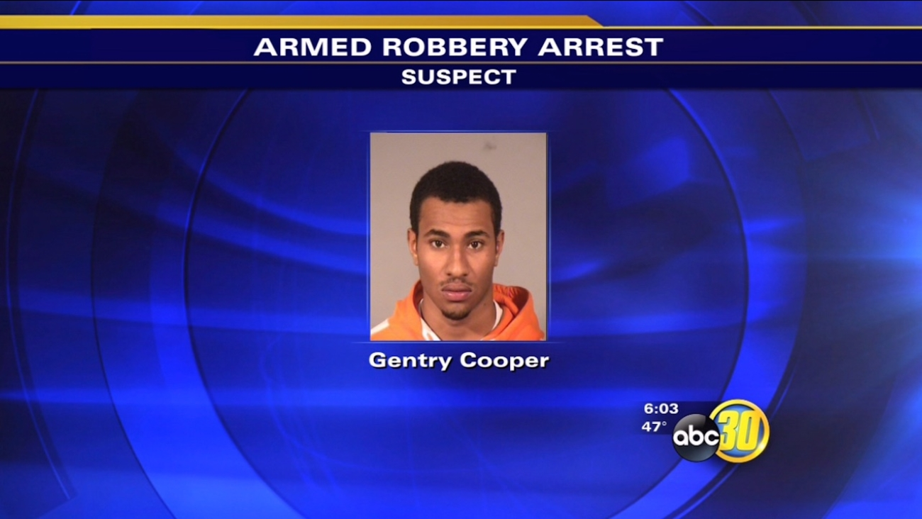 Helicopter helps Fresno police catch robbery suspect