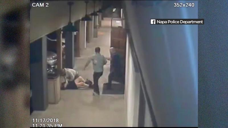 Jaw-dropping video shows men beating woman outside Napa bar