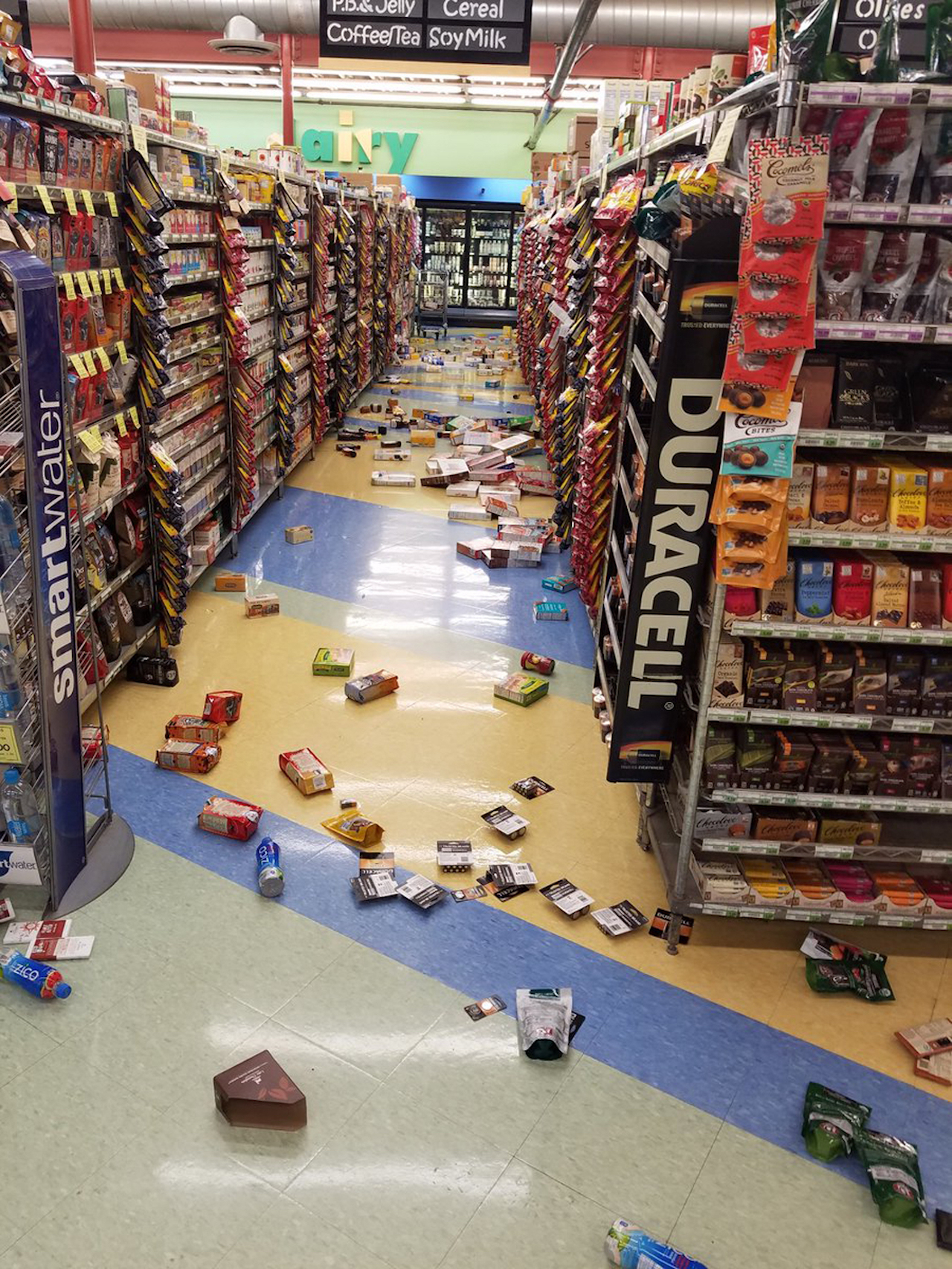 <div class='meta'><div class='origin-logo' data-origin='AP'></div><span class='caption-text' data-credit='David Harper via AP'>This photo provided by David Harper shows merchandise that fell off the shelves during an earthquake at a store in Anchorage, Alaska, on Friday, Nov. 30, 2018.</span></div>