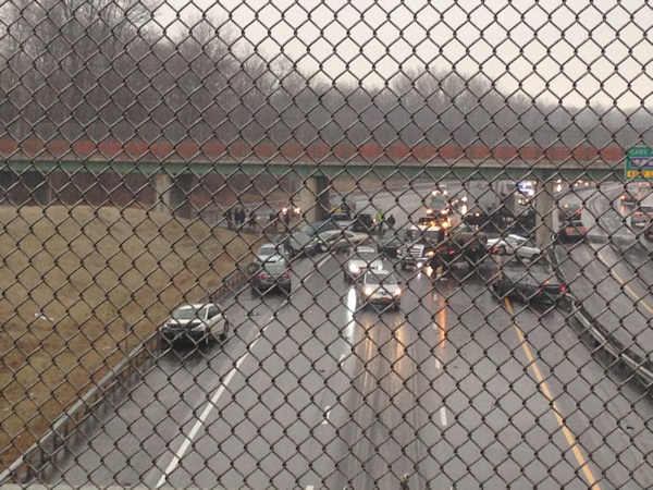 "<div class=""meta image-caption""><div class=""origin-logo origin-image ""><span></span></div><span class=""caption-text"">Accident on Interstate 87 southbound near the Garden State parkway entrance in Nyack. (Courtesy: Aires Guerreiro)</span></div>"