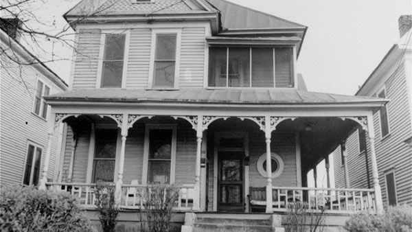 <div class='meta'><div class='origin-logo' data-origin='none'></div><span class='caption-text' data-credit='AP'>An undated picture of Dr. Martin Luther King, Jr.'s birthplace, 501 Auburn Avenue N.E., Atlanta, Ga. Dr. King was born here, January 15, 1929</span></div>
