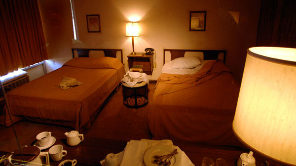 <div class='meta'><div class='origin-logo' data-origin='none'></div><span class='caption-text' data-credit='AP'>The room at the Loraine Hotel which Dr. Martin Luther King, Jr. occupied the night before his assassination</span></div>