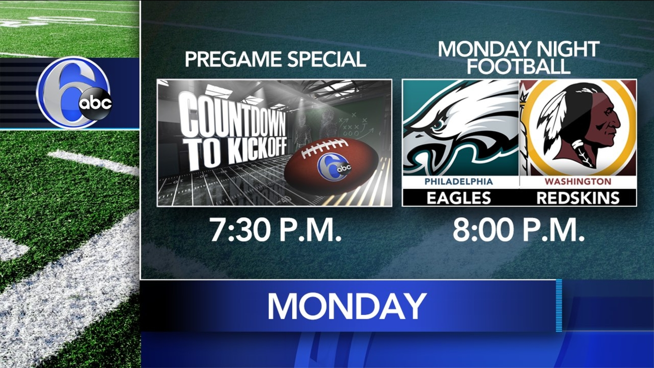 Watch The Eagles Host Washington On Monday Night Football Live 6abc