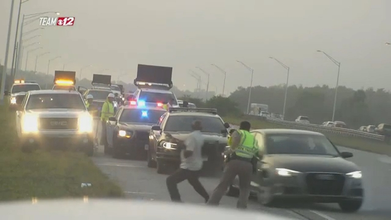 Florida Highway Patrol Traffic >> Trooper Tossed Into The Air By Spinning Out Of Control Car