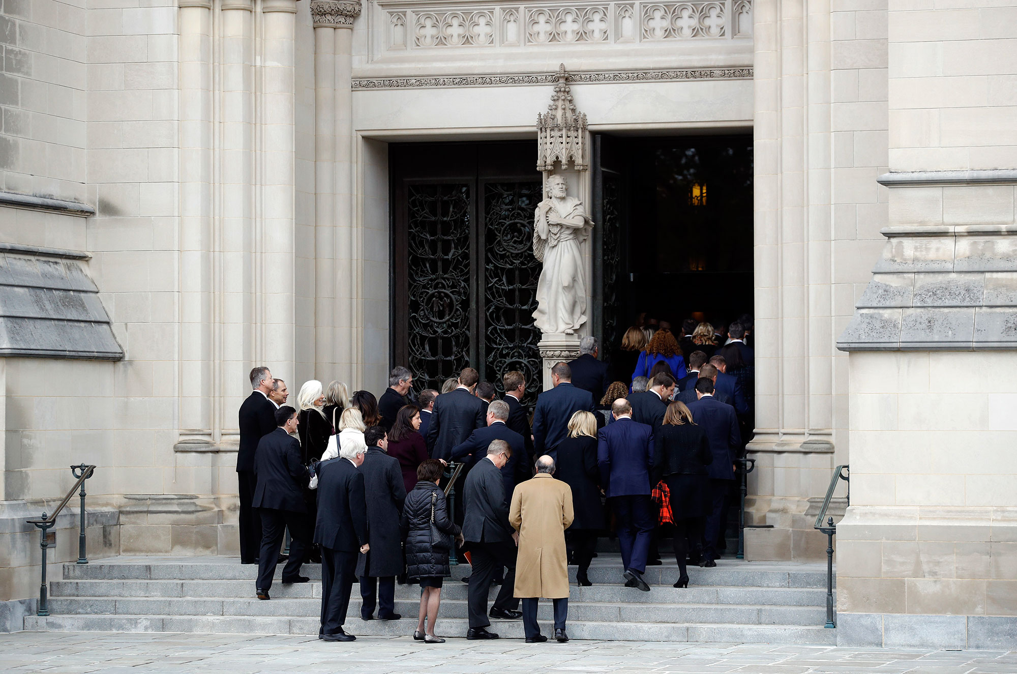 "<div class=""meta image-caption""><div class=""origin-logo origin-image none""><span>none</span></div><span class=""caption-text"">Mourners file into the Washington National Cathedral before a State Funeral for former President George H.W. Bush in Washington, Wednesday, Dec. 5, 2018. (Patrick Semansky/AP Photo)</span></div>"