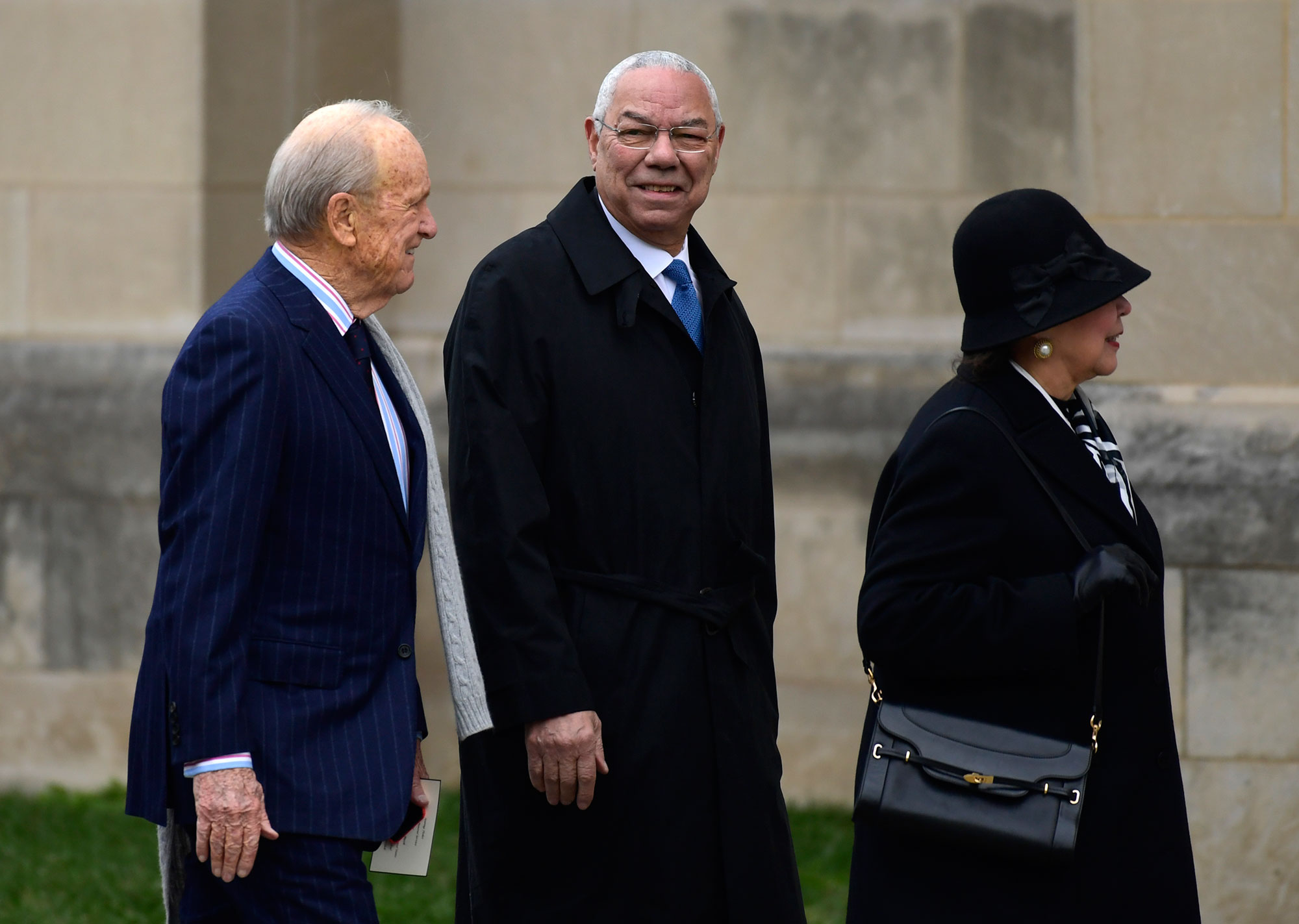 "<div class=""meta image-caption""><div class=""origin-logo origin-image none""><span>none</span></div><span class=""caption-text"">Former Secretary of State Colin Powell, center, arrives for the State Funeral of former President George H.W. Bush at the National Cathedral in Washington, Wednesday, Dec. 5, 2018. (Susan Walsh/AP Photo)</span></div>"