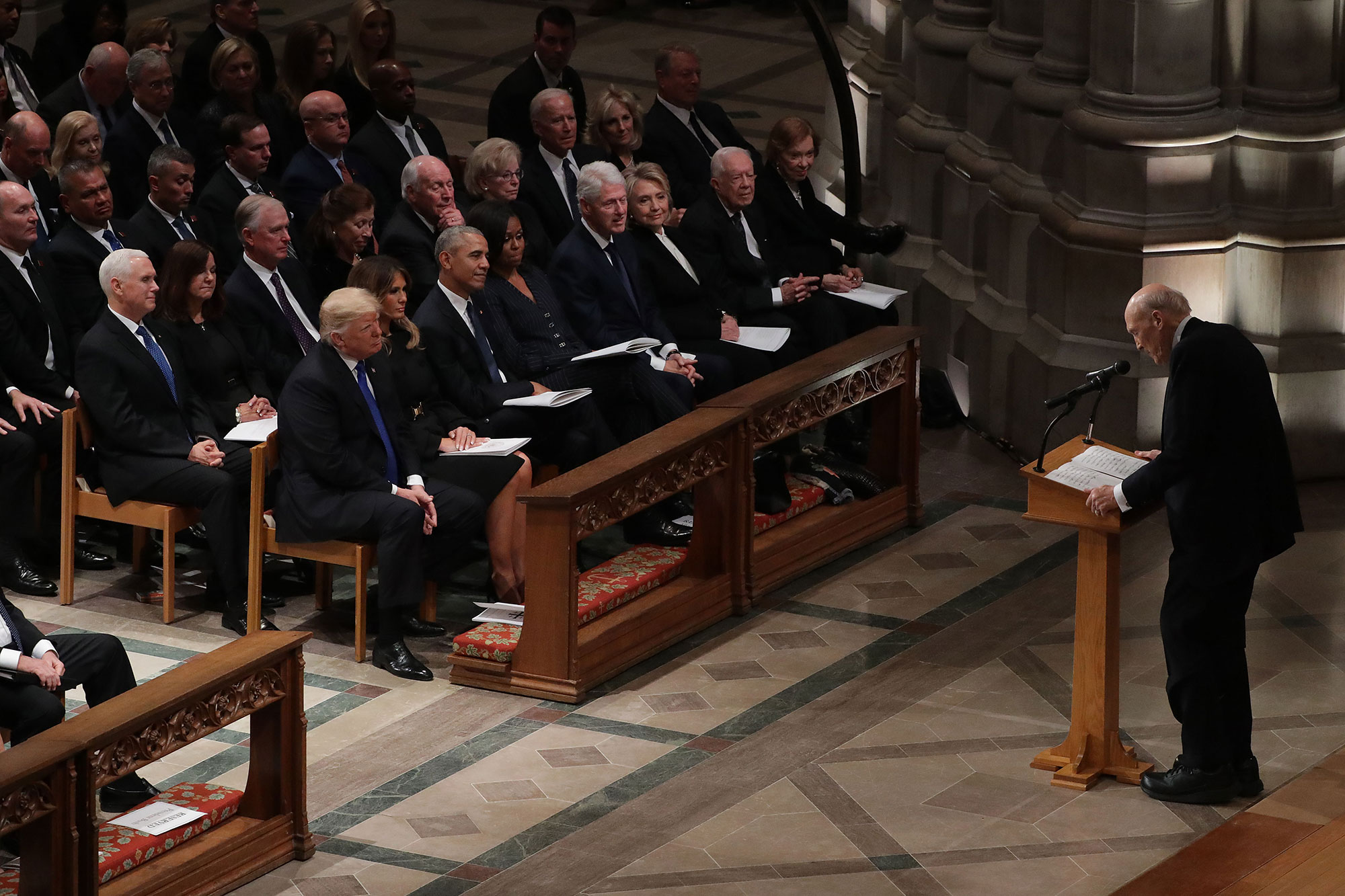 "<div class=""meta image-caption""><div class=""origin-logo origin-image none""><span>none</span></div><span class=""caption-text"">Former U.S. Sen. Alan K. Simpson (R-WY) delivers remarks during the state funeral for former President George H.W. Bush. (Chip Somodevilla/Getty Images)</span></div>"