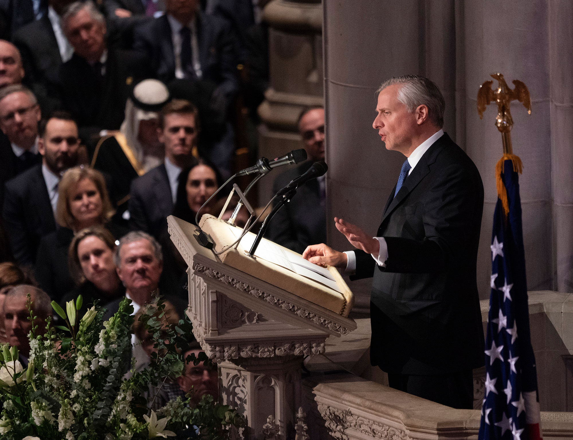 "<div class=""meta image-caption""><div class=""origin-logo origin-image none""><span>none</span></div><span class=""caption-text"">Presidential historian and biographer Jon Meacham delivers a eulogy at the state funeral service of former President George W. Bush, (Chris Kleponis / Polaris)</span></div>"