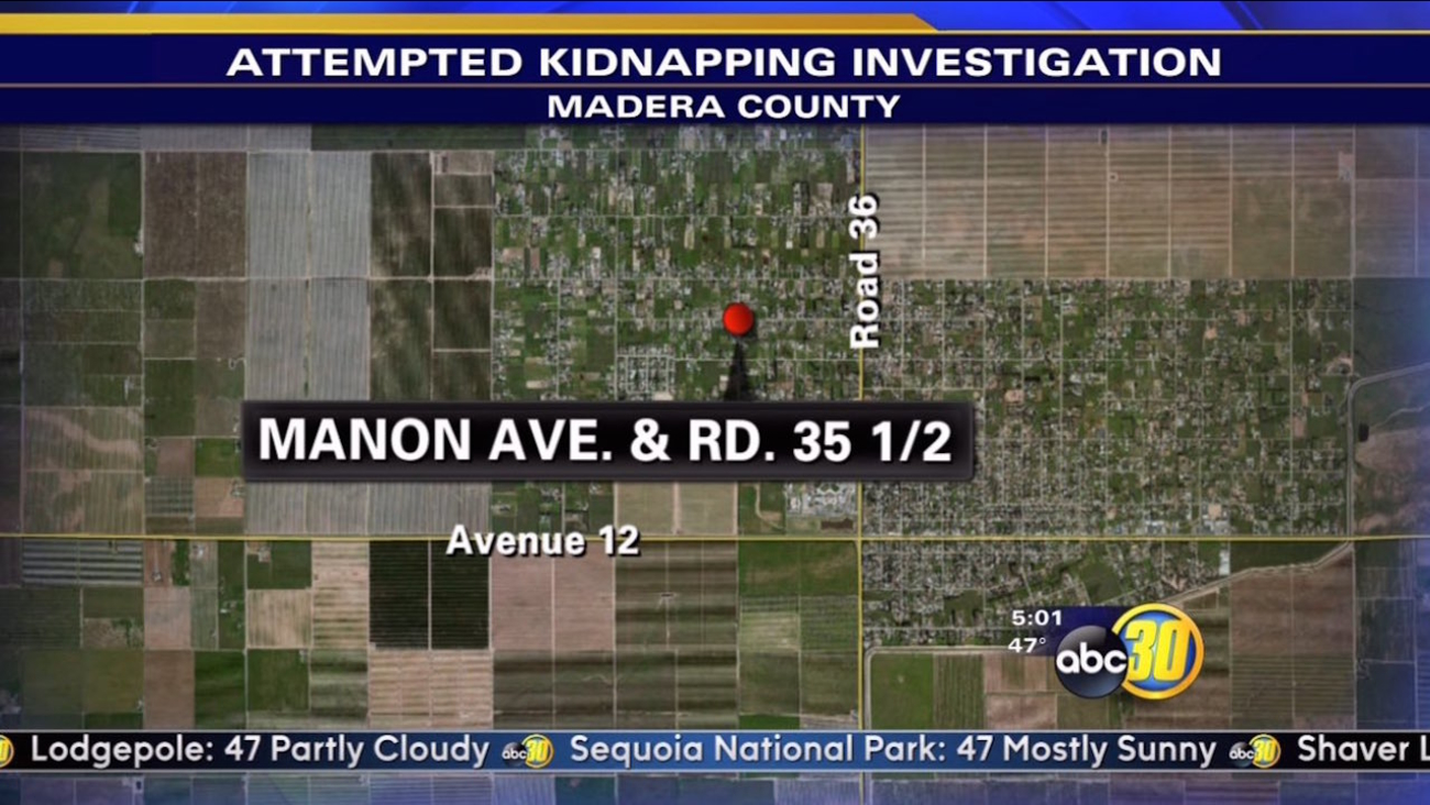The Madera County Sheriff's Office says a black minivan approached the girl last night near Manon Avenue and Road 35 1/2.