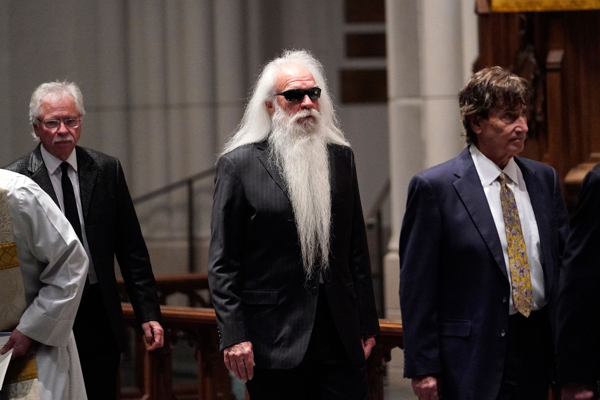 "<div class=""meta image-caption""><div class=""origin-logo origin-image none""><span>none</span></div><span class=""caption-text"">Members of the Oak Ridge Boys arrive for a funeral service for former President George H.W. Bush at St. Martin's Episcopal Church Thursday, Dec. 6, 2018, in Houston. (David J. Phillip, Pool/AP Photo)</span></div>"
