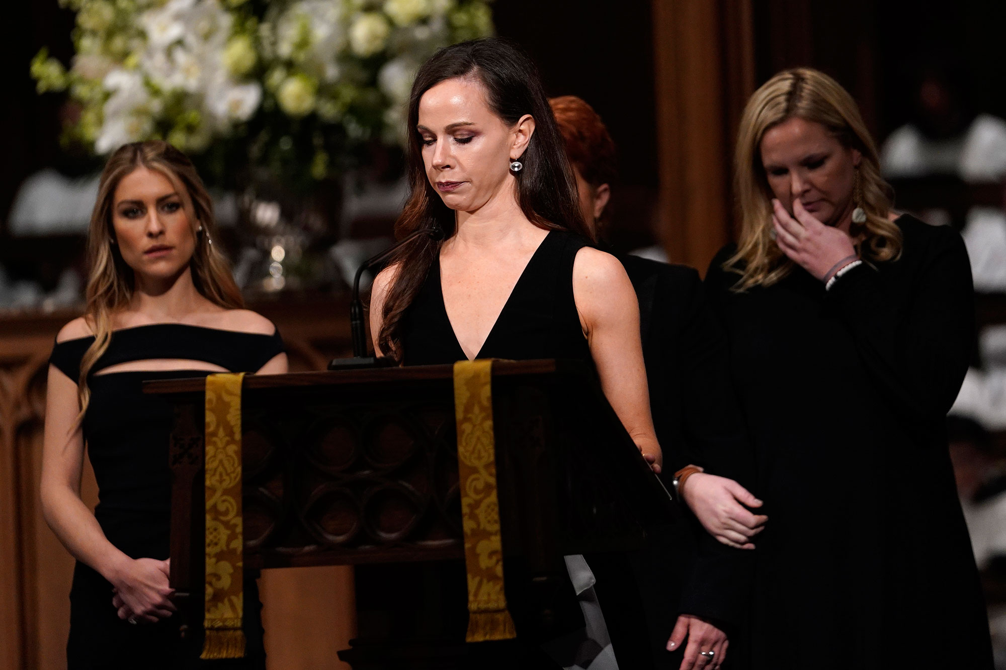 "<div class=""meta image-caption""><div class=""origin-logo origin-image none""><span>none</span></div><span class=""caption-text"">Granddaughter Barbara Pierce Bush reads scripture during a funeral service for former President George H.W. Bush at St. Martins Episcopal Church on December 6, 2018 in Houston. (David J. Phillip-Pool/Getty Images)</span></div>"