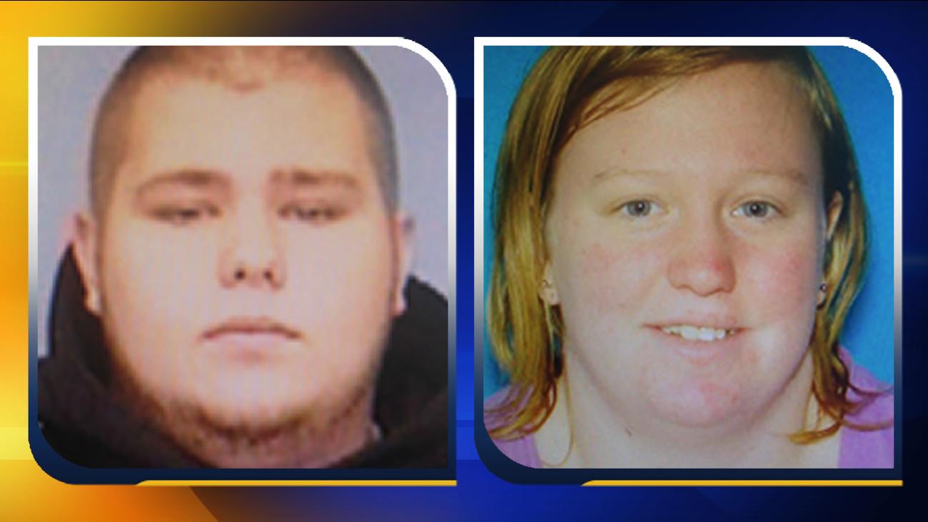 Tyler Mark Pierce and Samantha Lynn Shilts (images courtesy Hoke County Sheriff's Office)