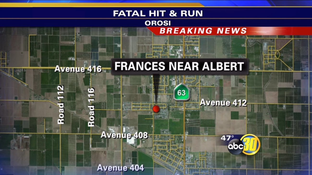 Woman in her 80's dies in Orosi hit-and-run crash