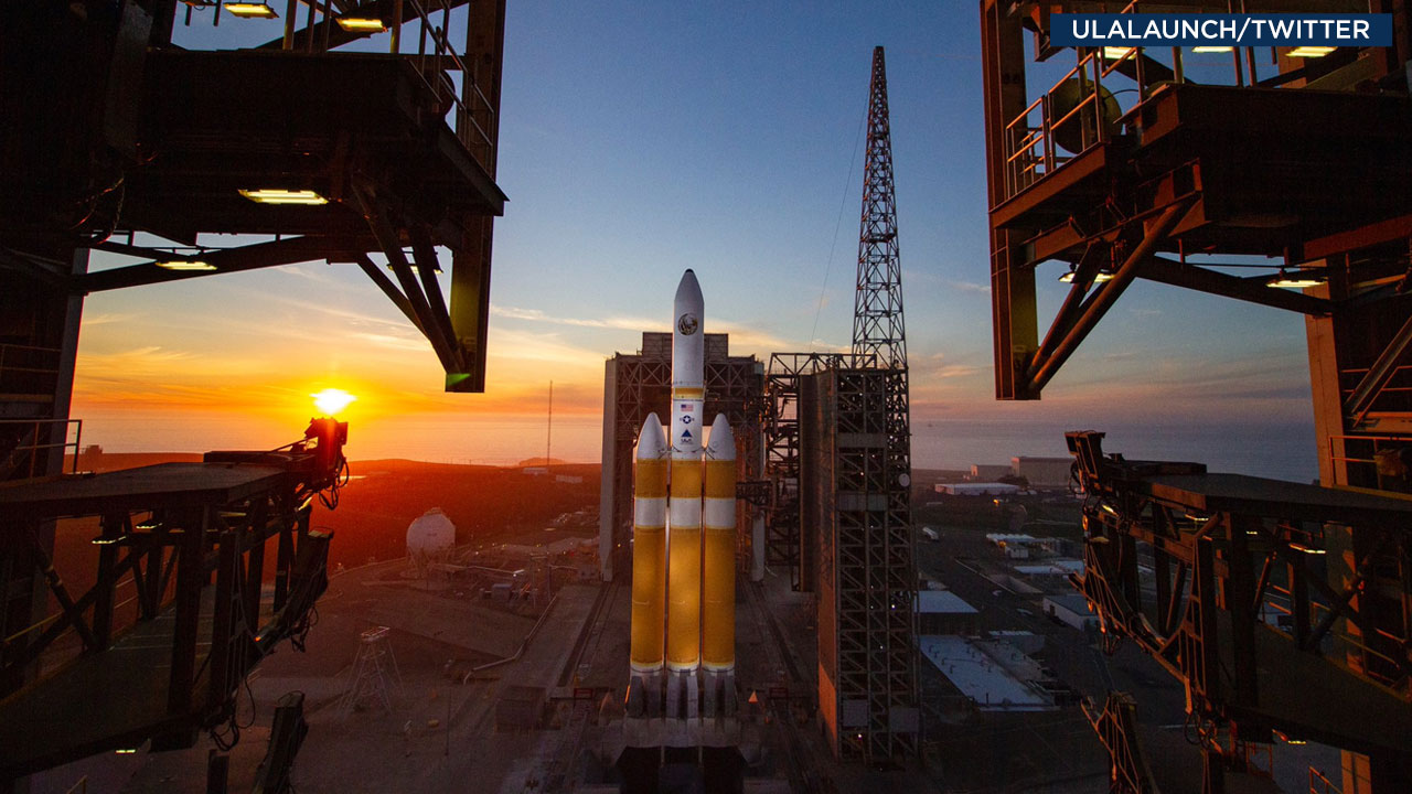 ULA shared a picture of its Delta IV Heavy rocket as it gets ready for launch from Vandenberg Air Force Base on Saturday, Dec. 8, 2018.