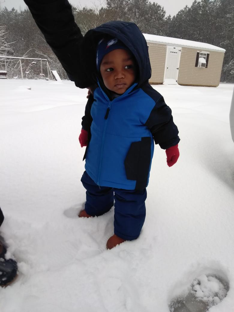 <div class='meta'><div class='origin-logo' data-origin='none'></div><span class='caption-text' data-credit='@masterp2715 / Twitter'>JJ's first birthday and snow in Franklinton</span></div>