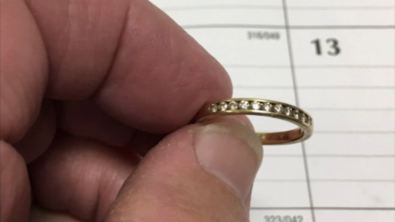 Wedding ring flushed down toilet recoved 9 years later