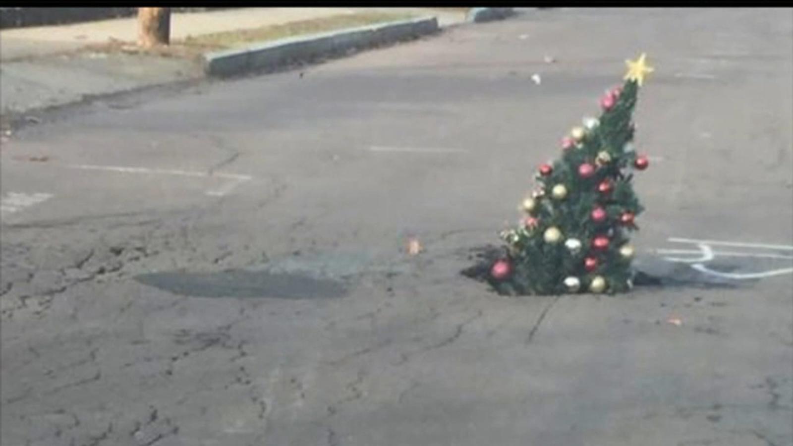 Wilkes Barre Pennsylvania Residents Fill Growing Pothole