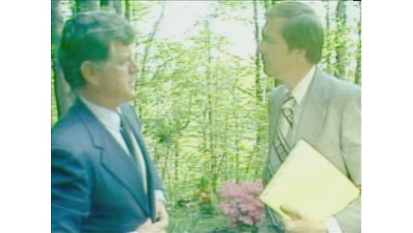 <div class='meta'><div class='origin-logo' data-origin='none'></div><span class='caption-text' data-credit='WTVD Photo'>Larry Stogner interviews Ted Kennedy.</span></div>