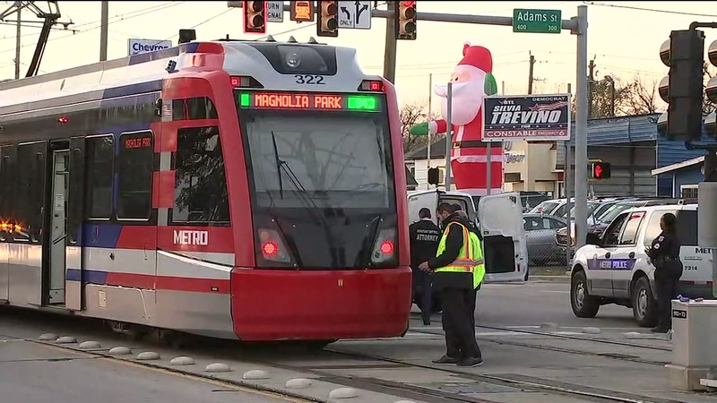 Pedestrian killed by METRORail train in SE Houston