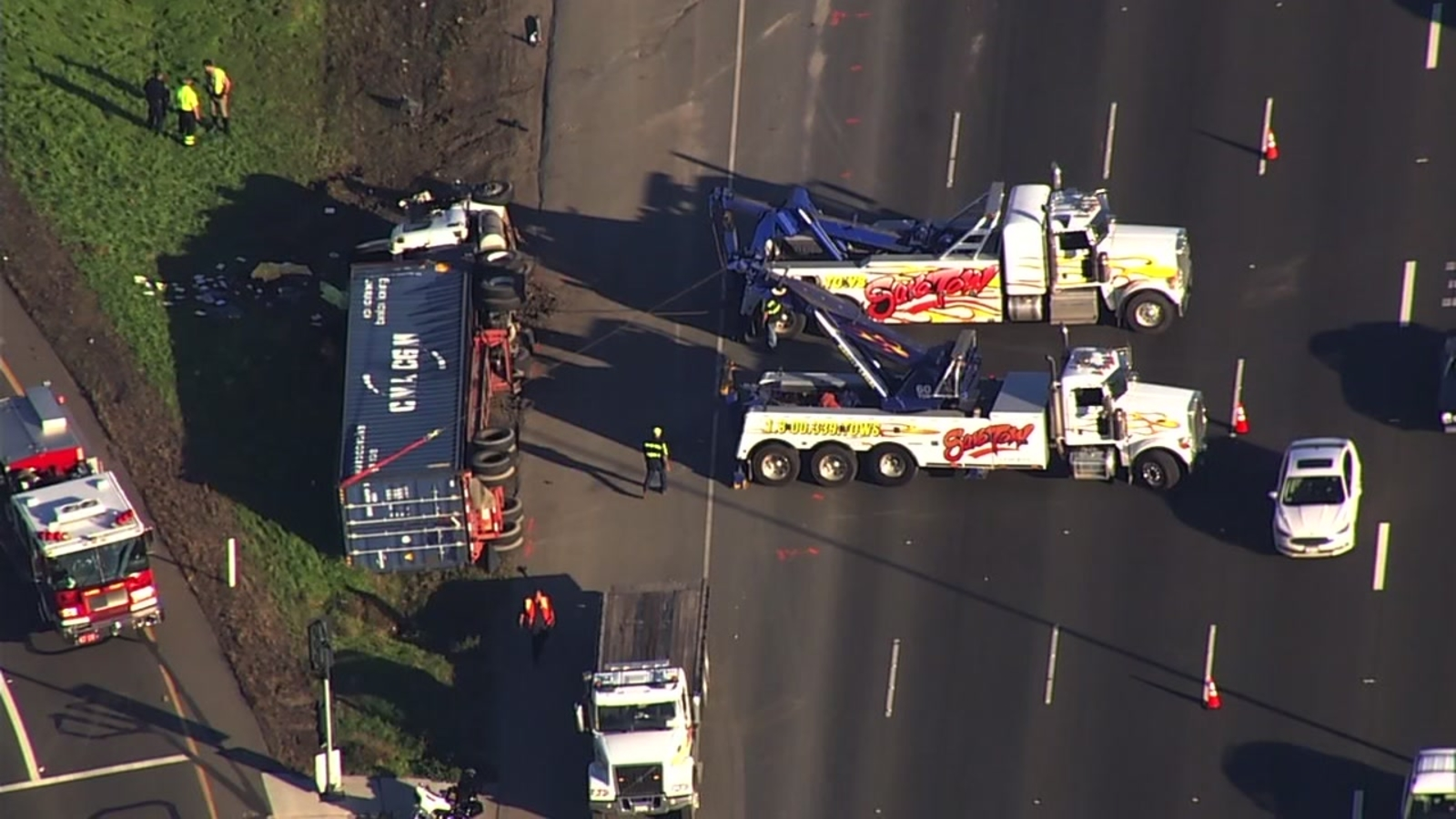 Driver killed in accident involving 2 big rigs on westbound I-580 in  Pleasanton