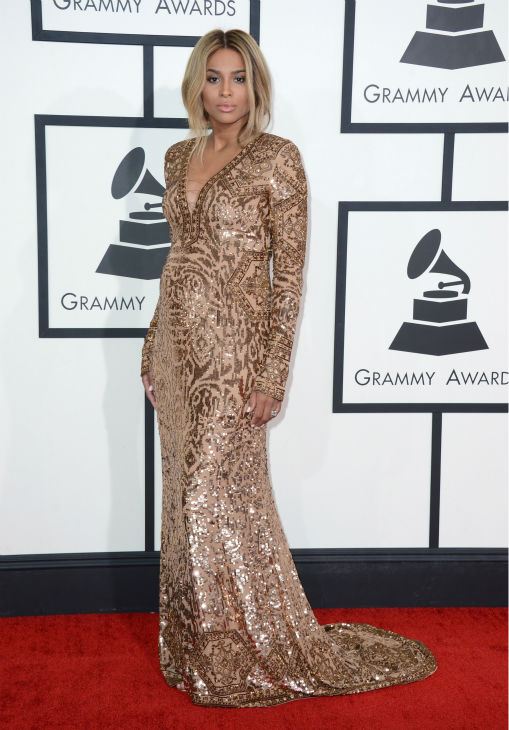 """<div class=""""meta image-caption""""><div class=""""origin-logo origin-image """"><span></span></div><span class=""""caption-text"""">Ciara: The singer said staying fashionable while pregnant is hard, but she's found the perfect one-stop shop for comfy clothes: her fiancé's closet. (Photo/Jordan Strauss)</span></div>"""