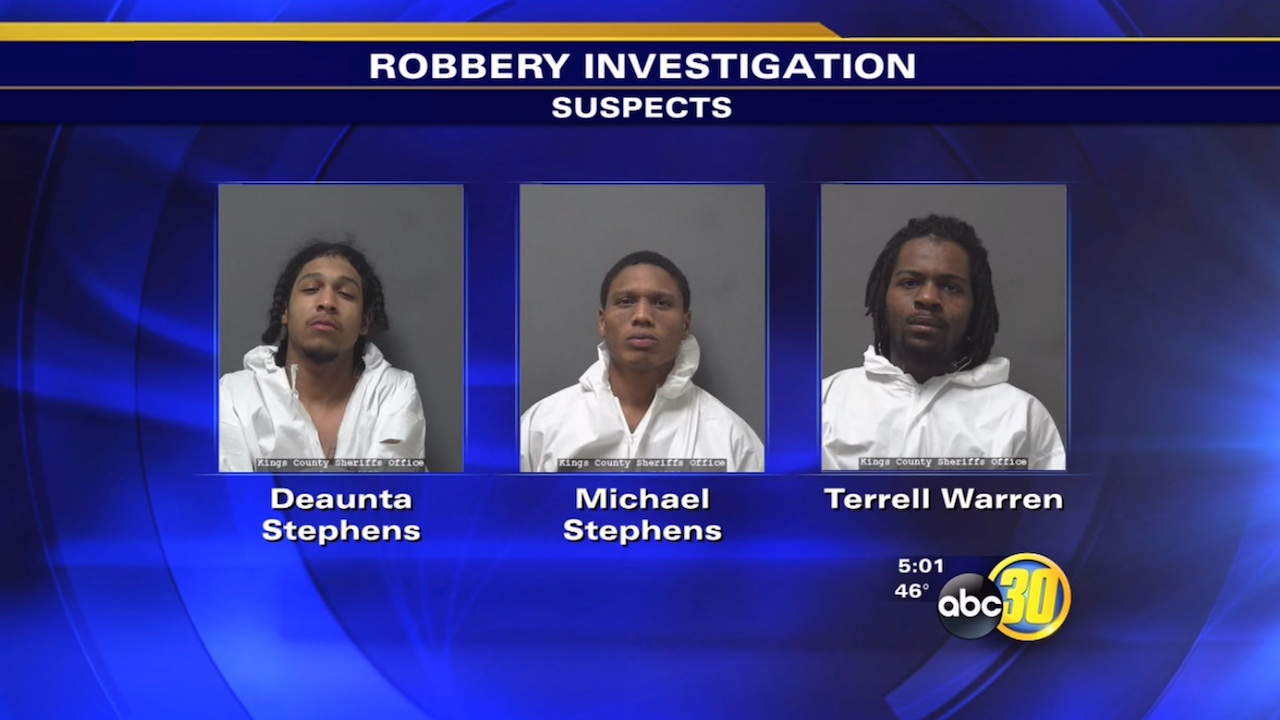 3 arrested in Hanford armed robbery