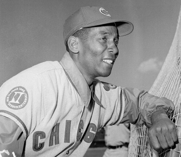 "<div class=""meta image-caption""><div class=""origin-logo origin-image none""><span>none</span></div><span class=""caption-text"">Ernie Banks Infielder for the Chicago Cubs shown in April 1969. (AP Photo/RHH) (AP Photo/ RHH)</span></div>"
