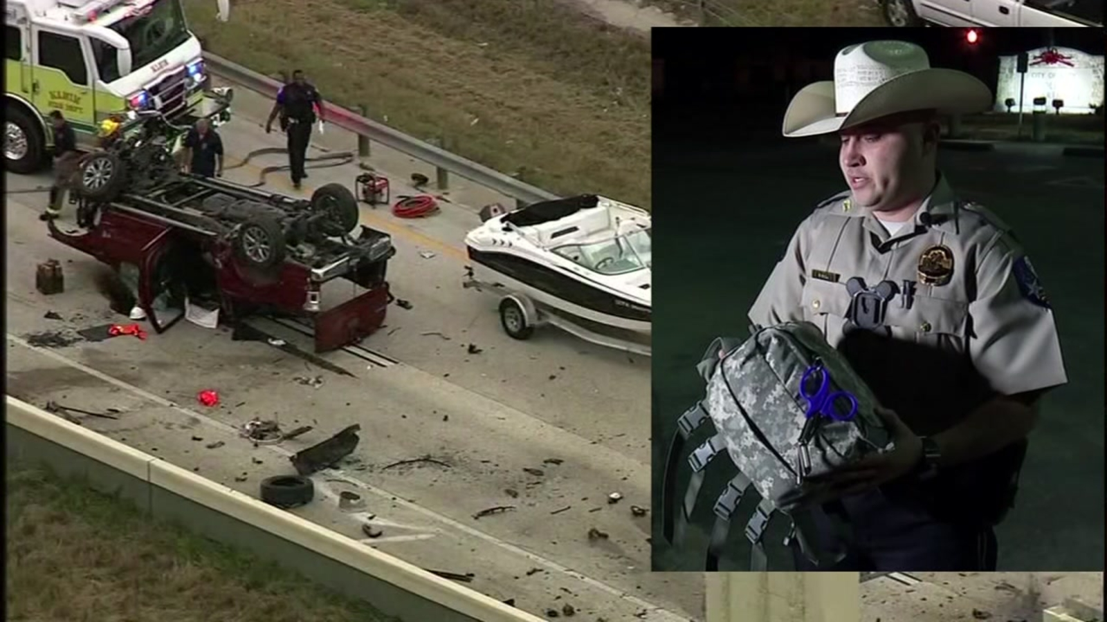 Off-duty officer jumps into action to help after deadly Grand Parkway crash