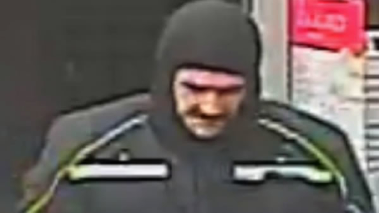 Mountain View police are looking for a man who has robbed several pharmacies with claims he has a bomb on him.