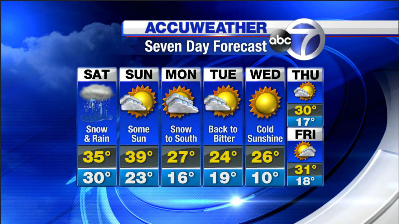ACCUWEATHER MAPS: Winter storm hits New York area | abc7ny com