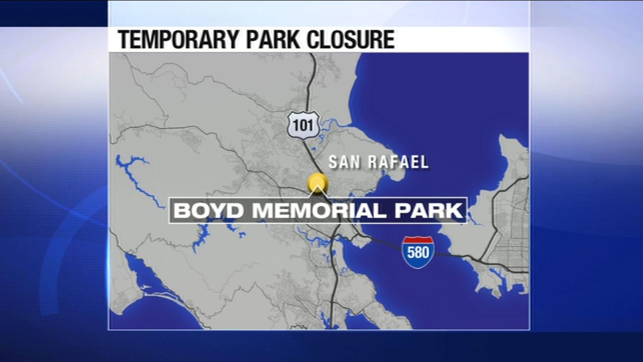 San Rafael's Boyd Memorial Park will be temporarily closed.