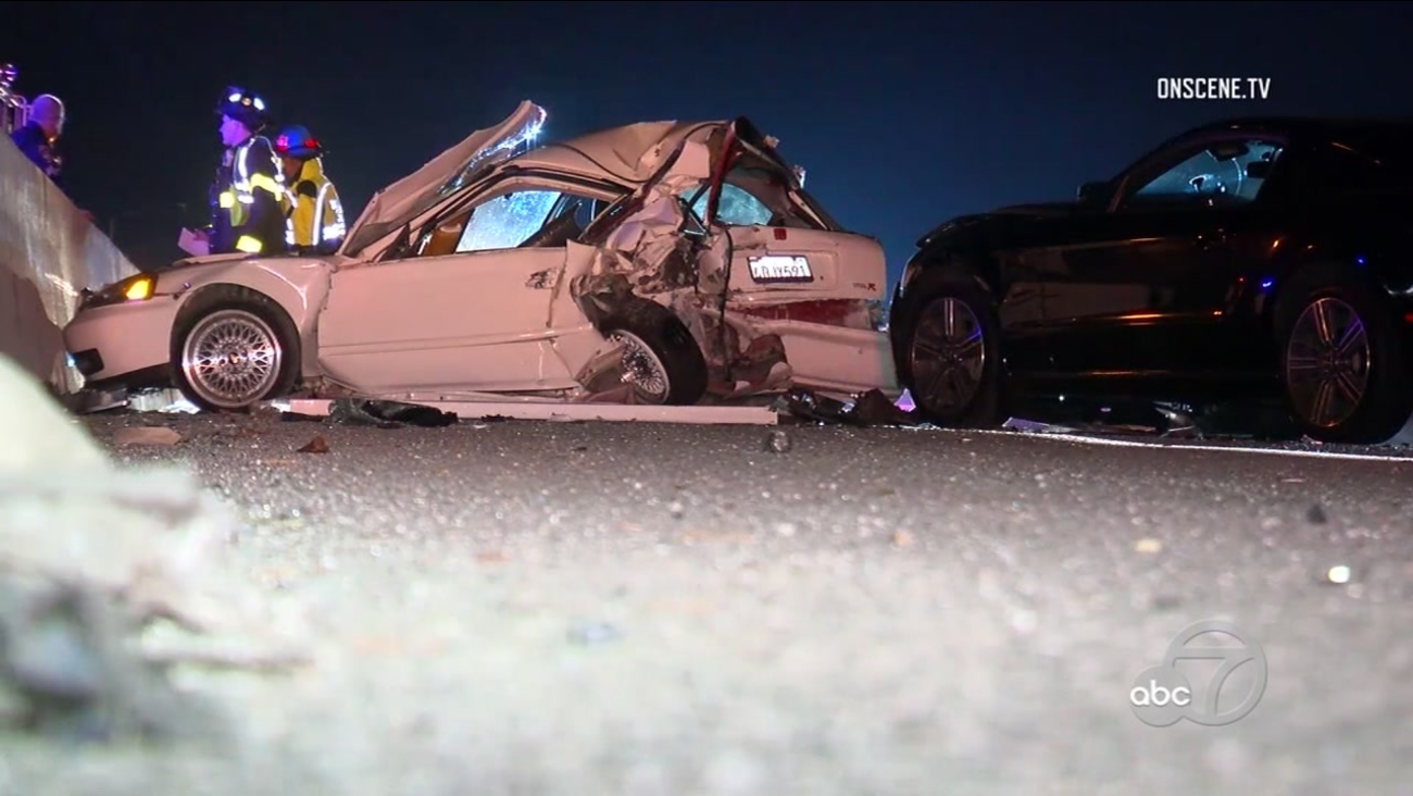 person dies after being ejected from car in san jose crash, 3 others
