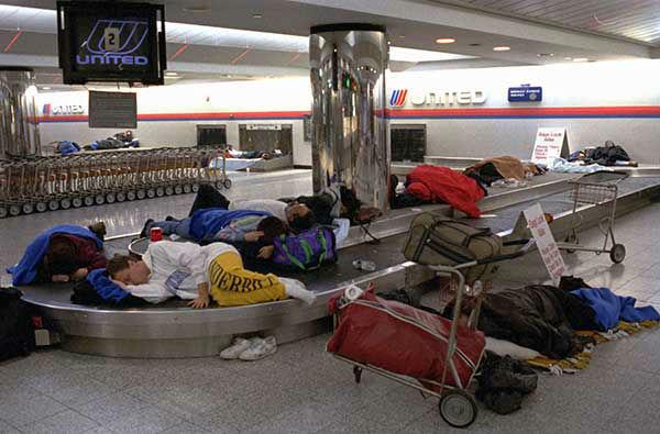 "<div class=""meta image-caption""><div class=""origin-logo origin-image none""><span>none</span></div><span class=""caption-text"">Jan. 1996: Travelers are stranded at New York's La Guardia Airport. (Photo/STEVE FRISCHLING)</span></div>"
