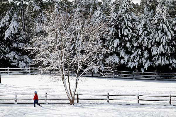 """<div class=""""meta image-caption""""><div class=""""origin-logo origin-image none""""><span>none</span></div><span class=""""caption-text"""">Dec. 2010: A woman jogs in Durham, N.C. just days after a Christmas Day storm plowed up and down the east coast. (Photo/Jim R. Bounds)</span></div>"""
