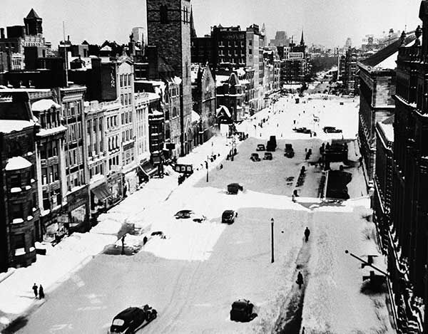 """<div class=""""meta image-caption""""><div class=""""origin-logo origin-image none""""><span>none</span></div><span class=""""caption-text"""">Feb. 1940: Boylston Street in Boston is shown during one of the worst blizzards in the history of New England. (Photo/Abe Fox)</span></div>"""