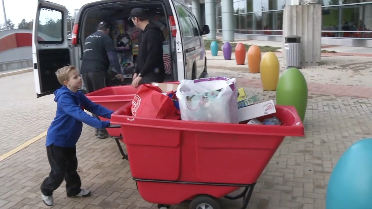 8-year-old patient collects 900 toys for kids at A.I. duPont Hospital
