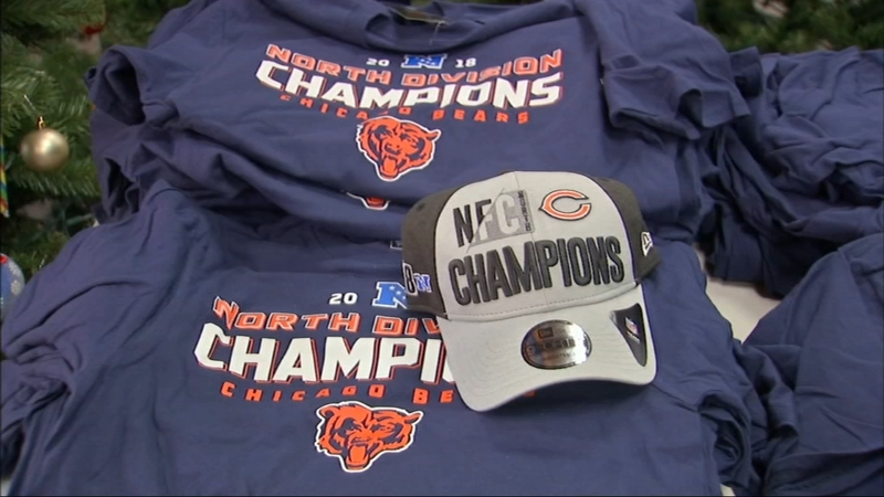 premium selection f1495 c4982 Chicago Bears fans celebrating NFC North championship