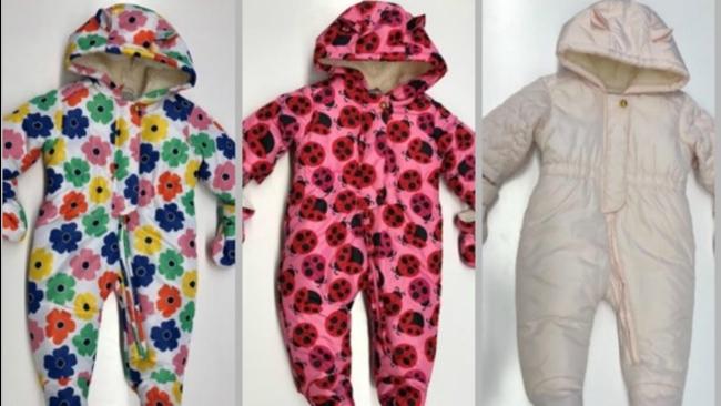 d89548584 Children s Place infant snowsuits recalled due to choking hazard ...